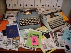 Katie's typewriters and zines